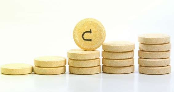 Ascorbic acid used as vitamin C tablets